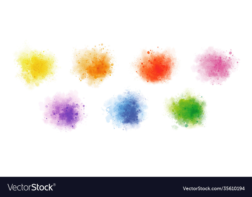 Colorful watercolor on white background