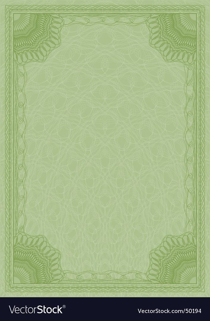 Diploma guilloche vector image