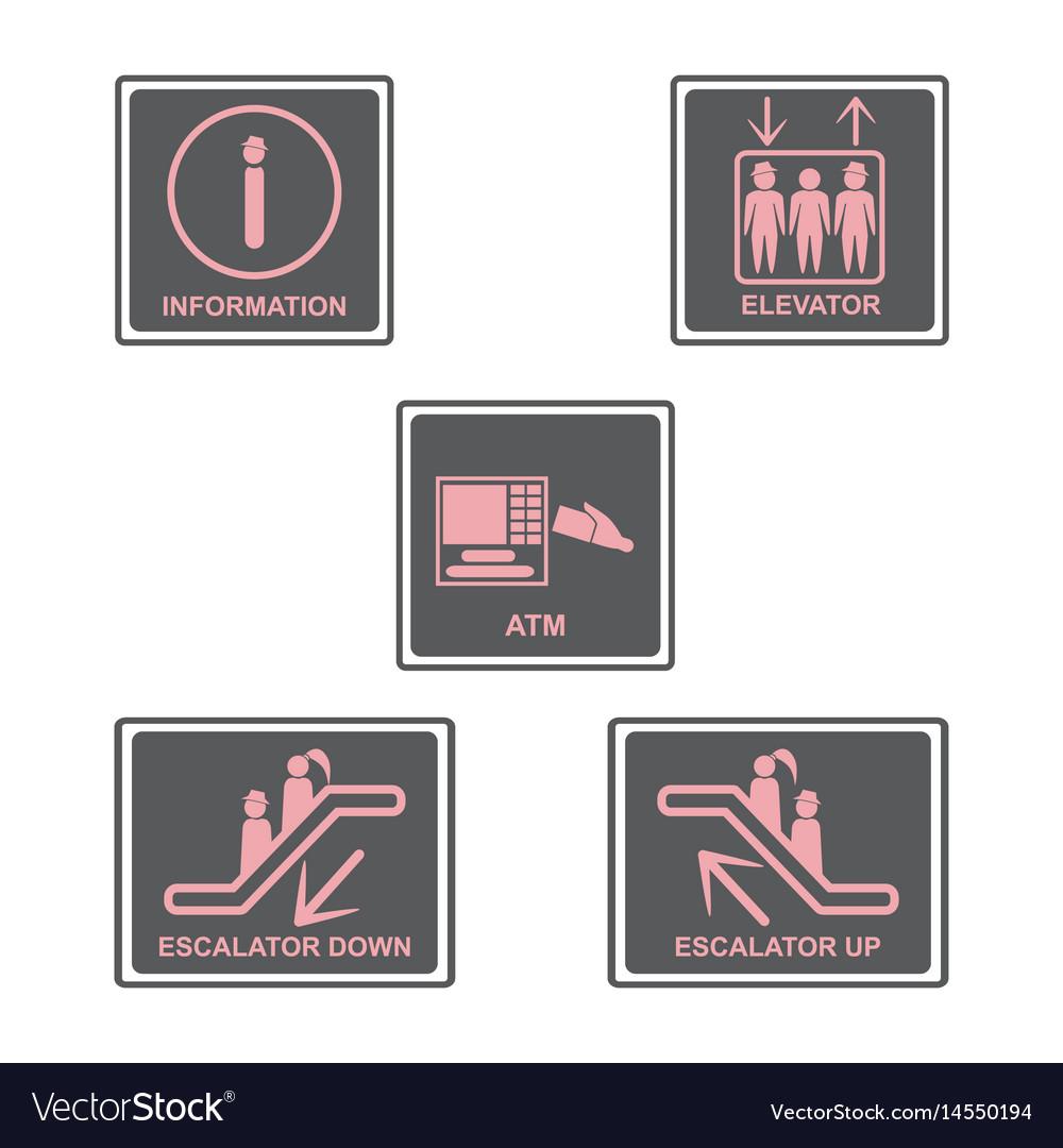 Information signboard elevator signescalators