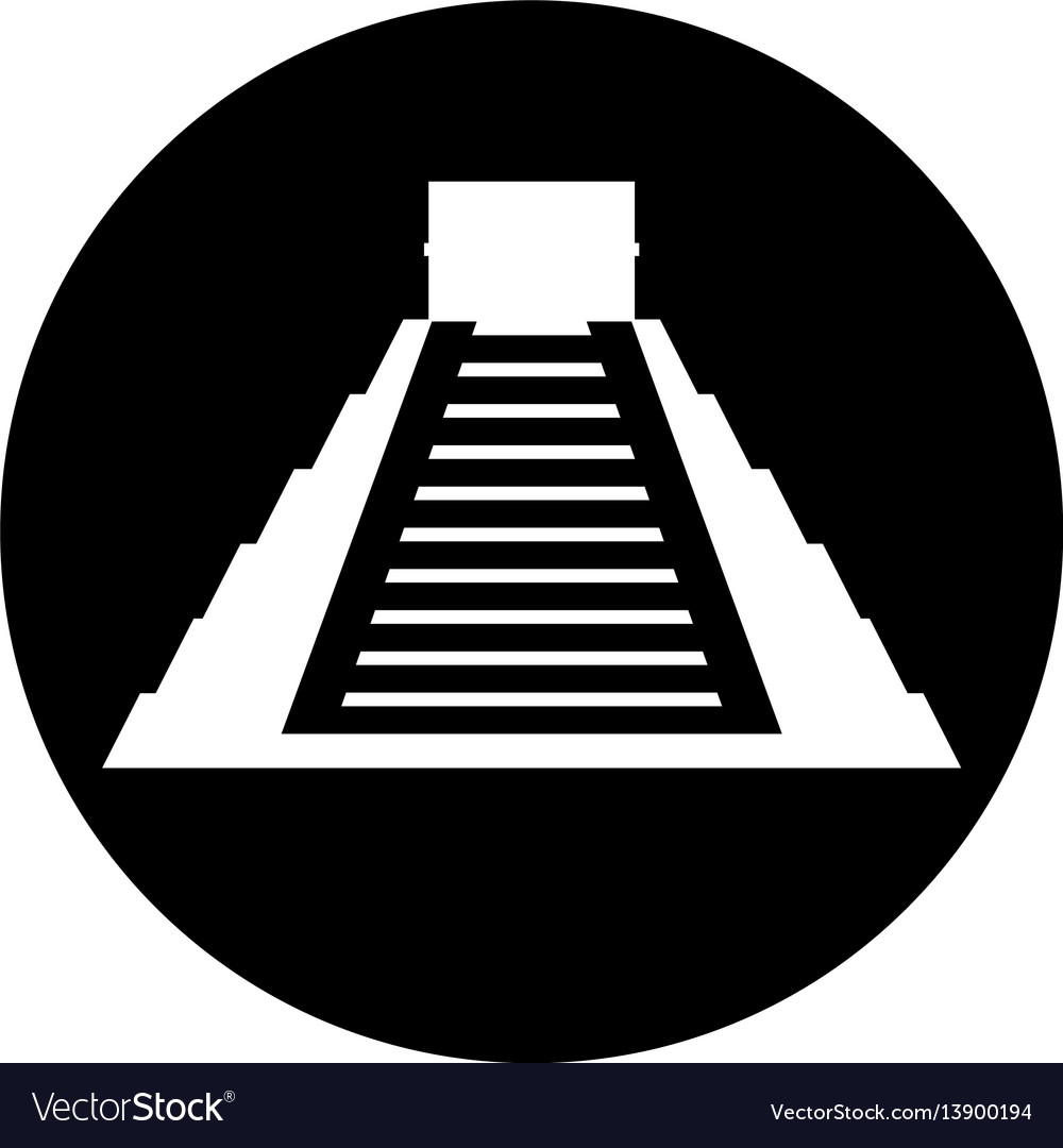 Mayan pyramid isolated icon