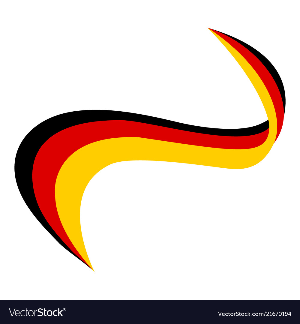 Ribbon in the color of the flag of germany