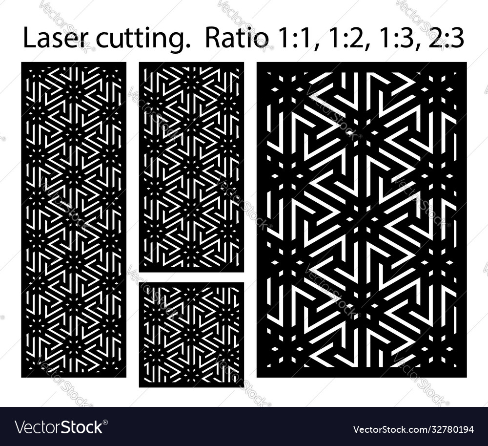Shade screen privacy fence template laser cut