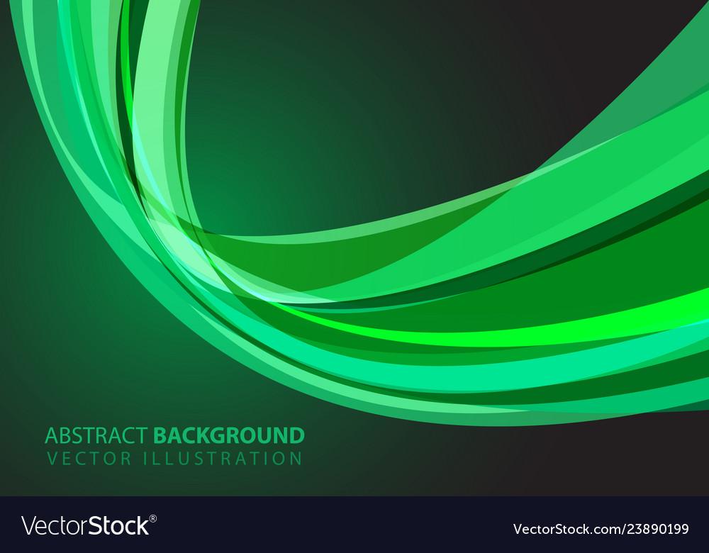 Abstract green glass curve light design modern