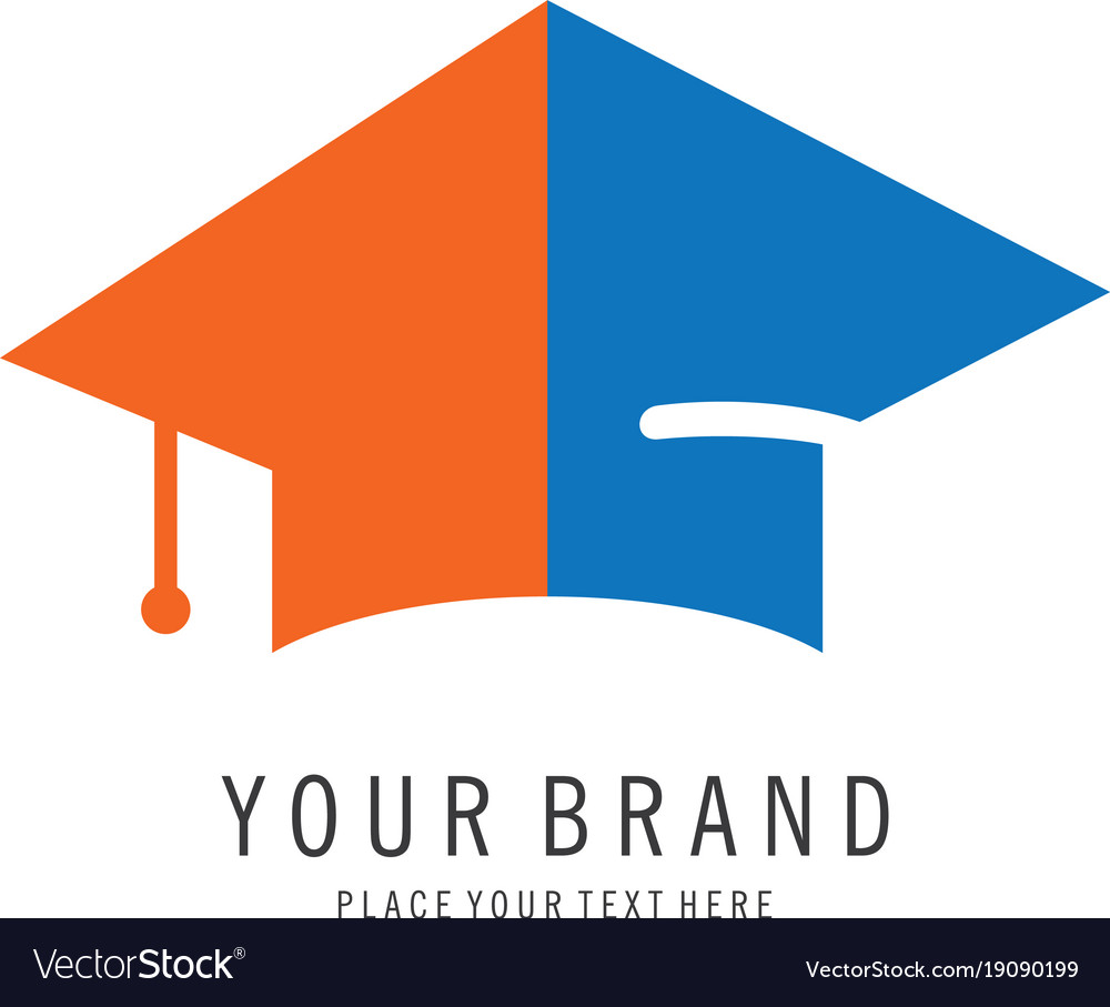 graduation cap logo royalty free vector image vectorstock rh vectorstock com Blue Graduation Caps and Tassels Monogram Graduation Cap
