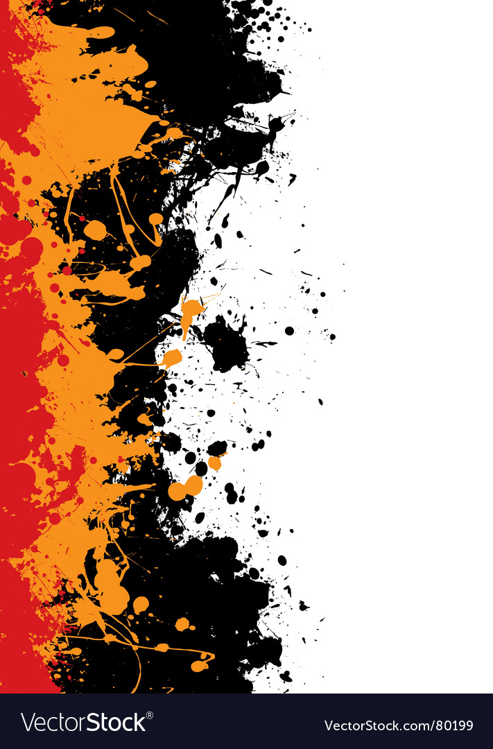 Ink splat border vector image