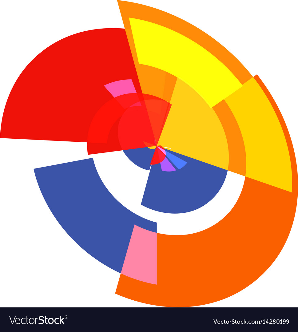isolated abstract colorful pie chart logo round vector image rh vectorstock com vector pie chart illustrator download vector pie chart diagram