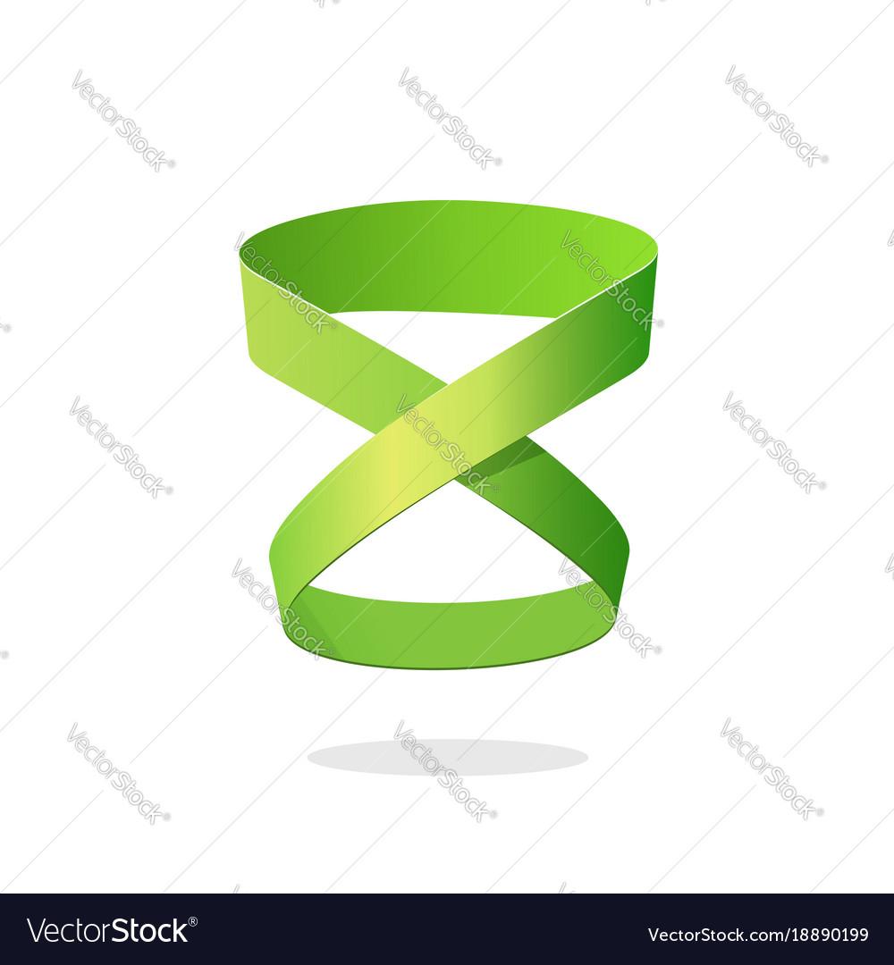 Loop ribbon logo element design isolated on white