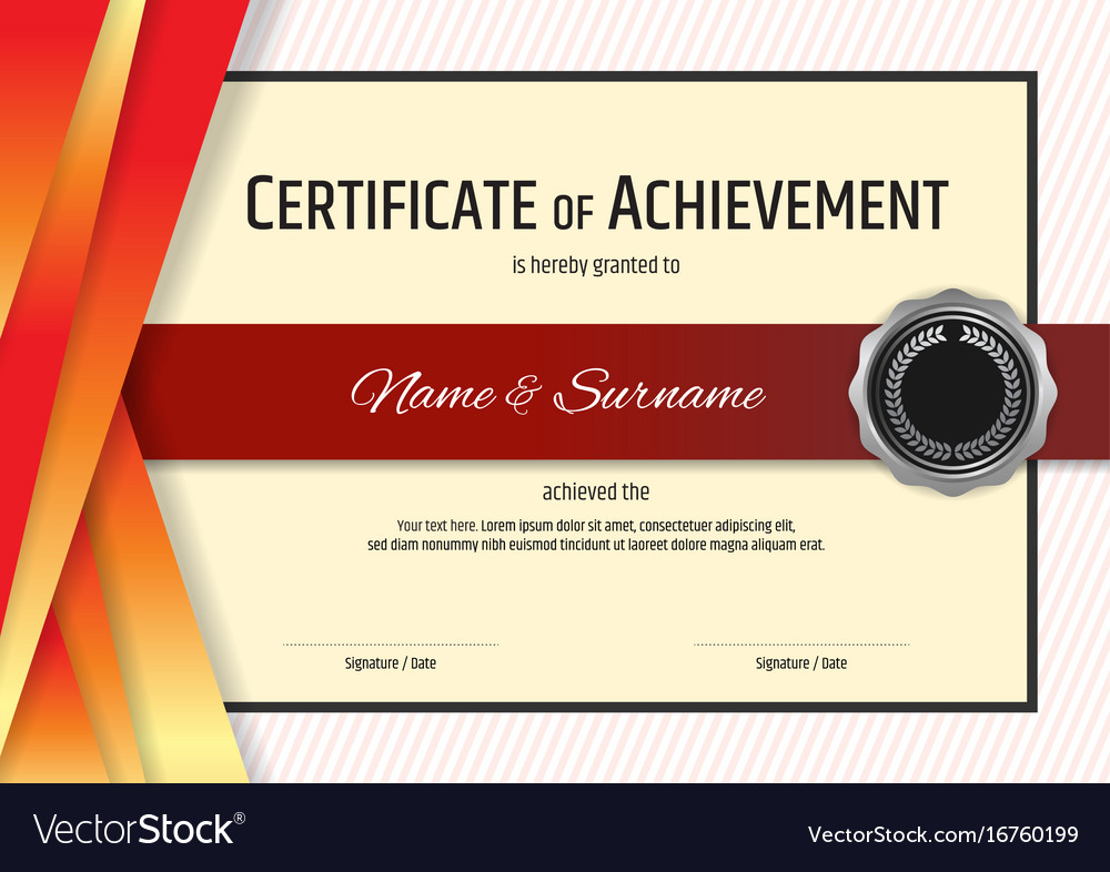 Luxury certificate template with elegant border vector image yadclub Gallery