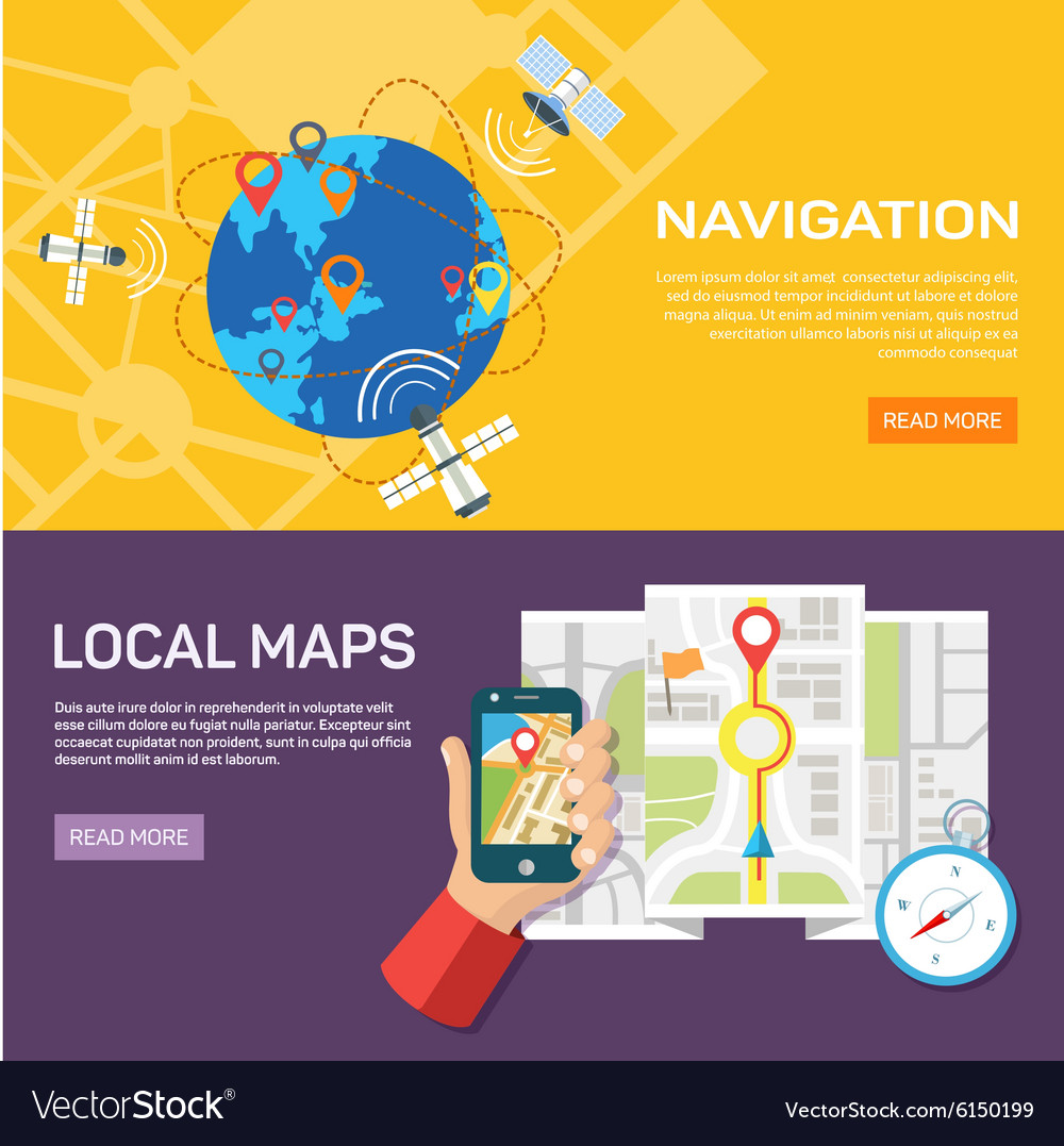 Navigation and traveling Map pointer location