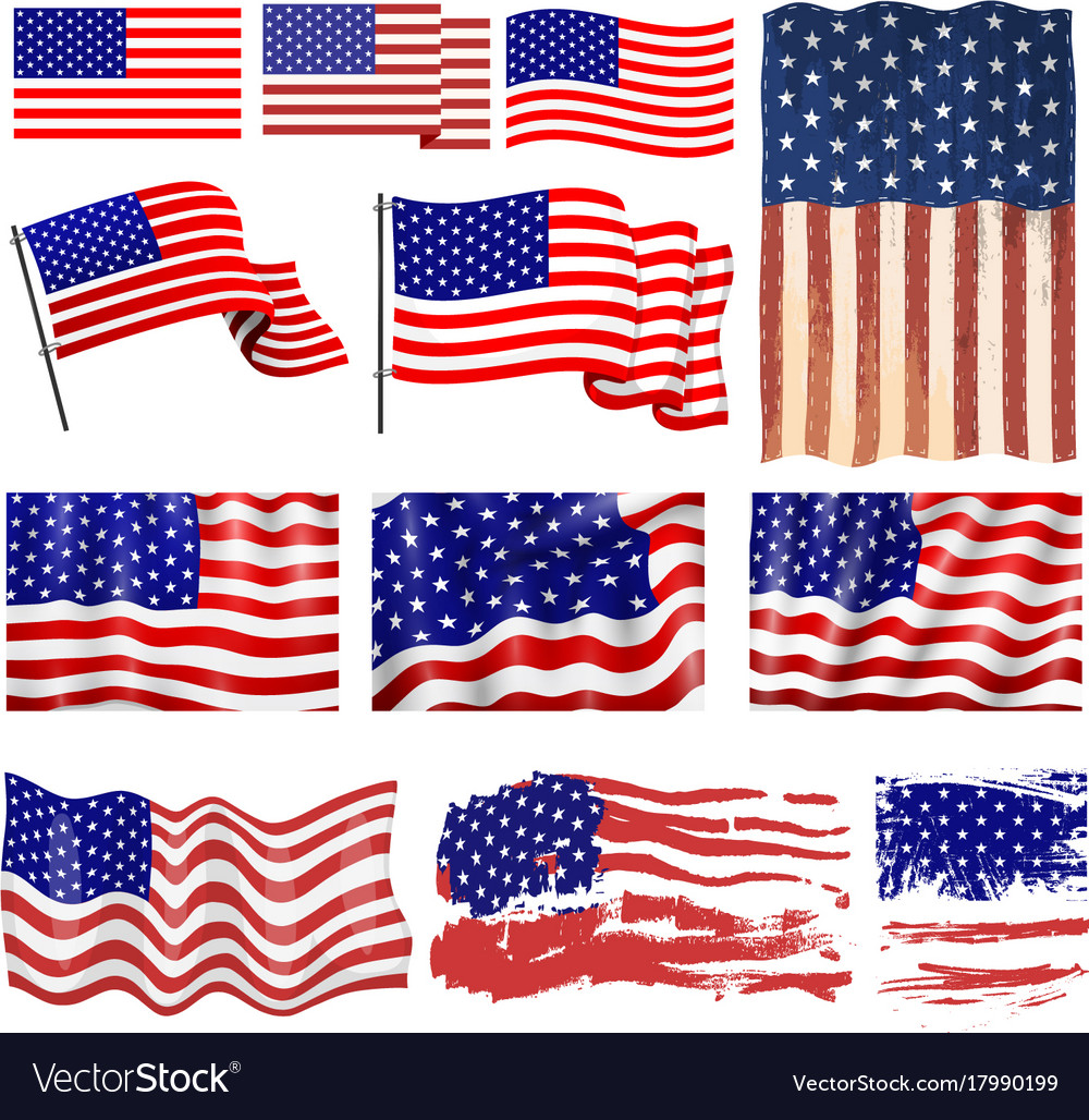 photograph about United States Flags Printable called United states flags template choice structure inedpendense