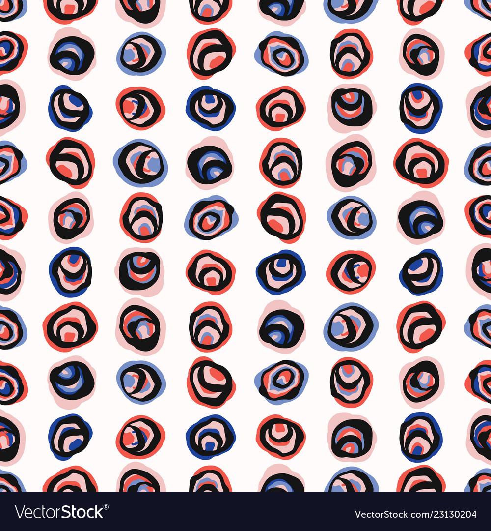 Abstract polka dot circle seamless pattern