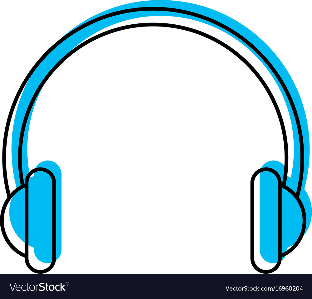 Audio earphones isolated icon vector image