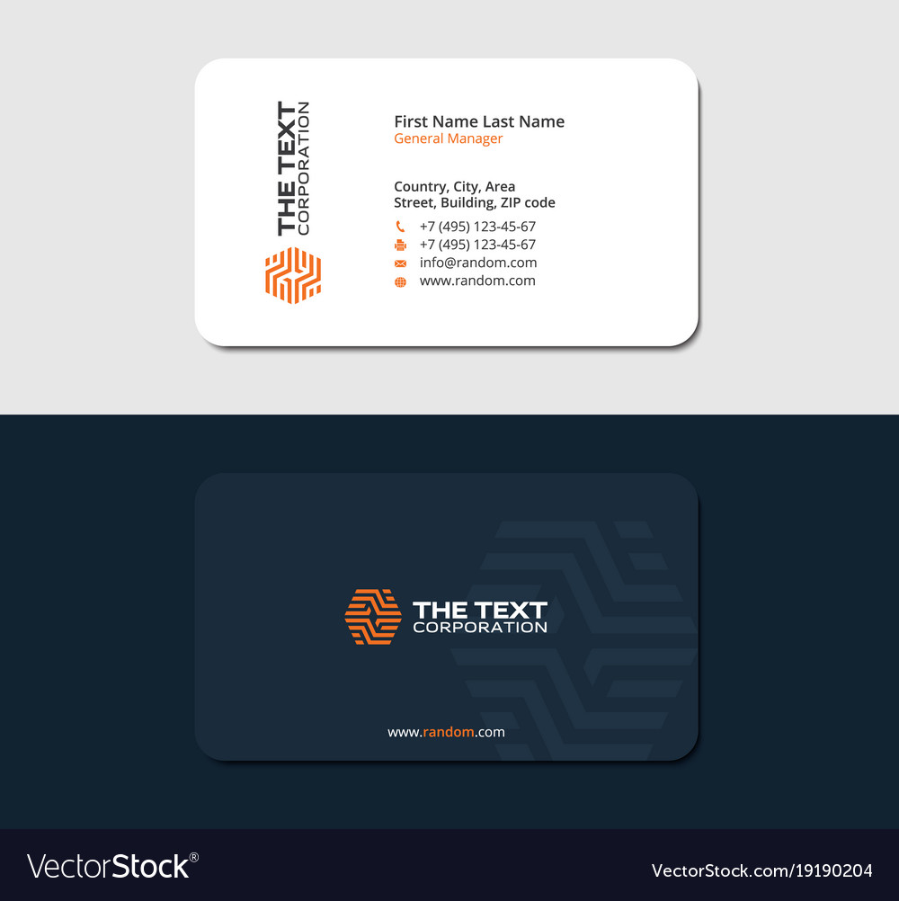 Blue Business Card Ceramic Tile Store Royalty Free Vector