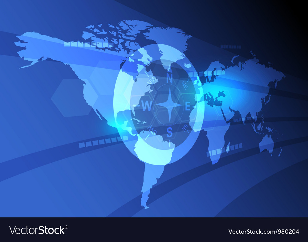 Digital Map Of The World.Digital World Map Background Royalty Free Vector Image