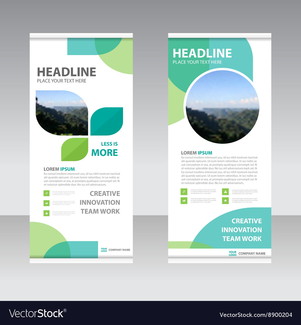 ECO Business Roll Up Banner flat design template