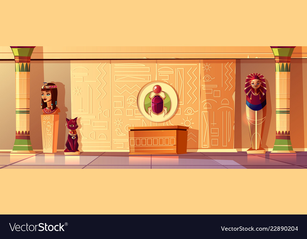 Egyptian set - queen bust pharaoh