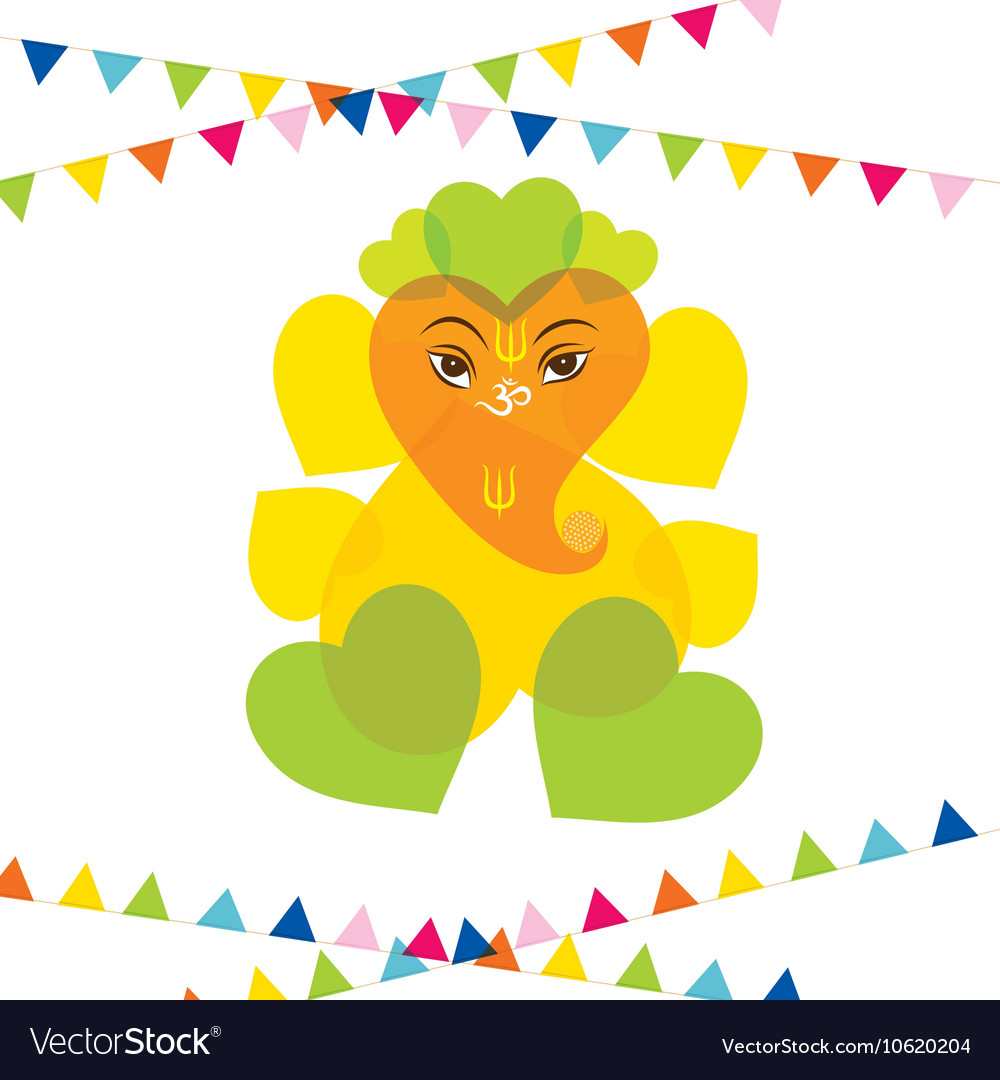 Happy ganesh chaturthi festival greeting card vector image m4hsunfo