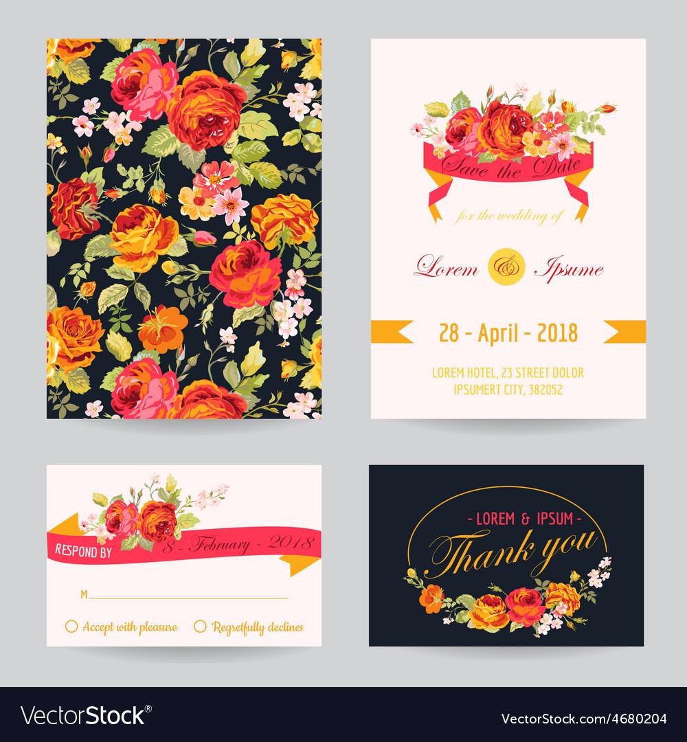 Invitation congratulation card set - for wedding
