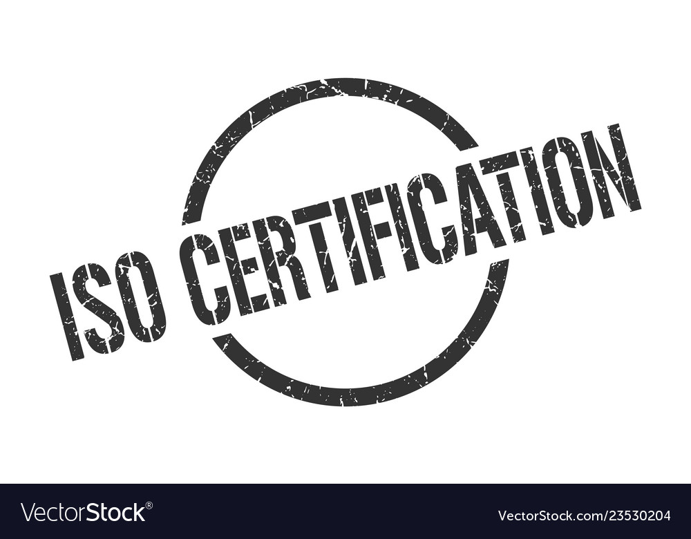 Iso Certification Stamp Vector Image