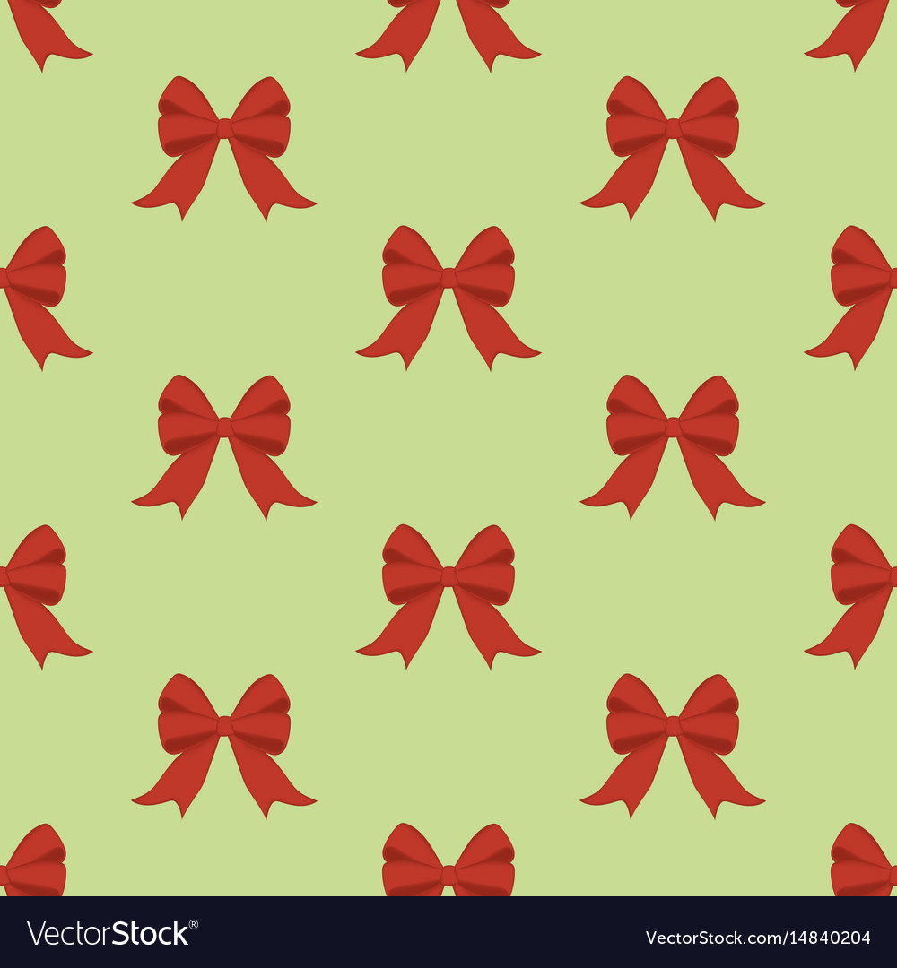 Red bow seamless pattern