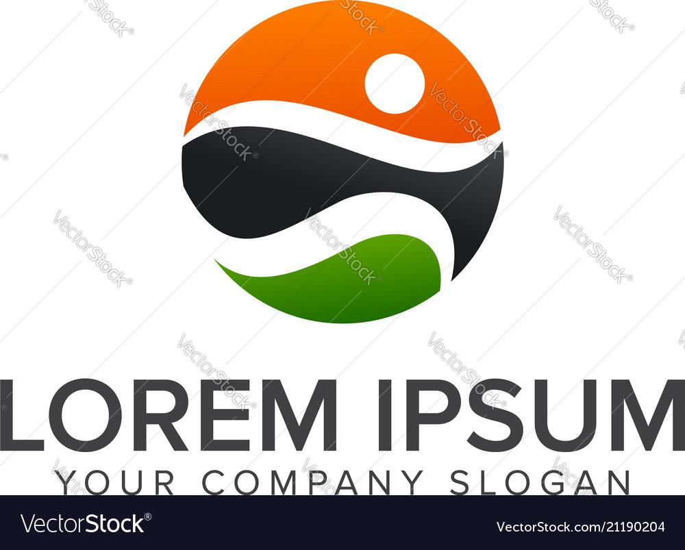 Sport people logos run activity people logo