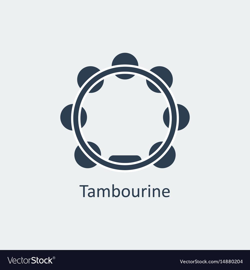 Tambourine icon silhouette icon