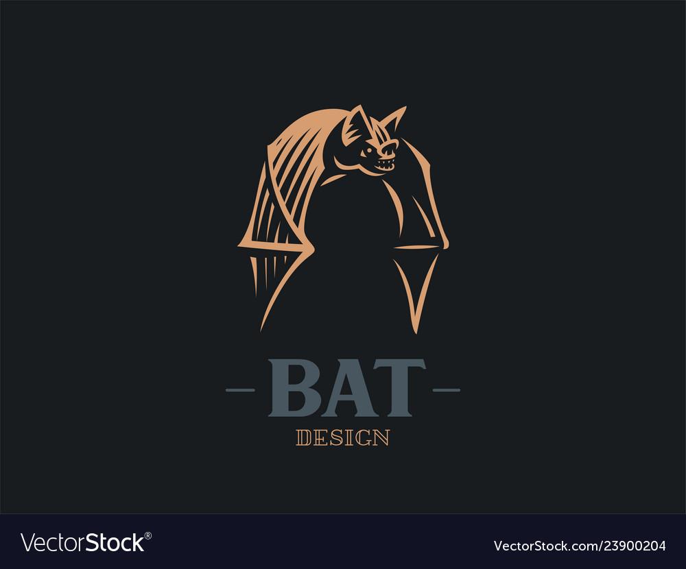 The bat flaps its big wings