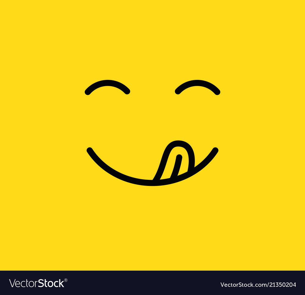 Yummy Smile Delicious Tasty Eating Emoji Face