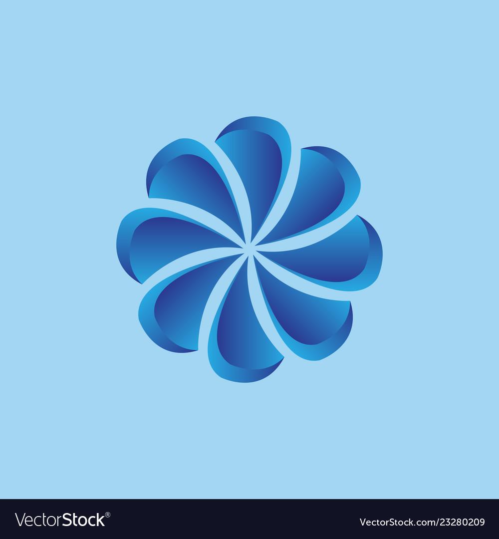 3d flower logo