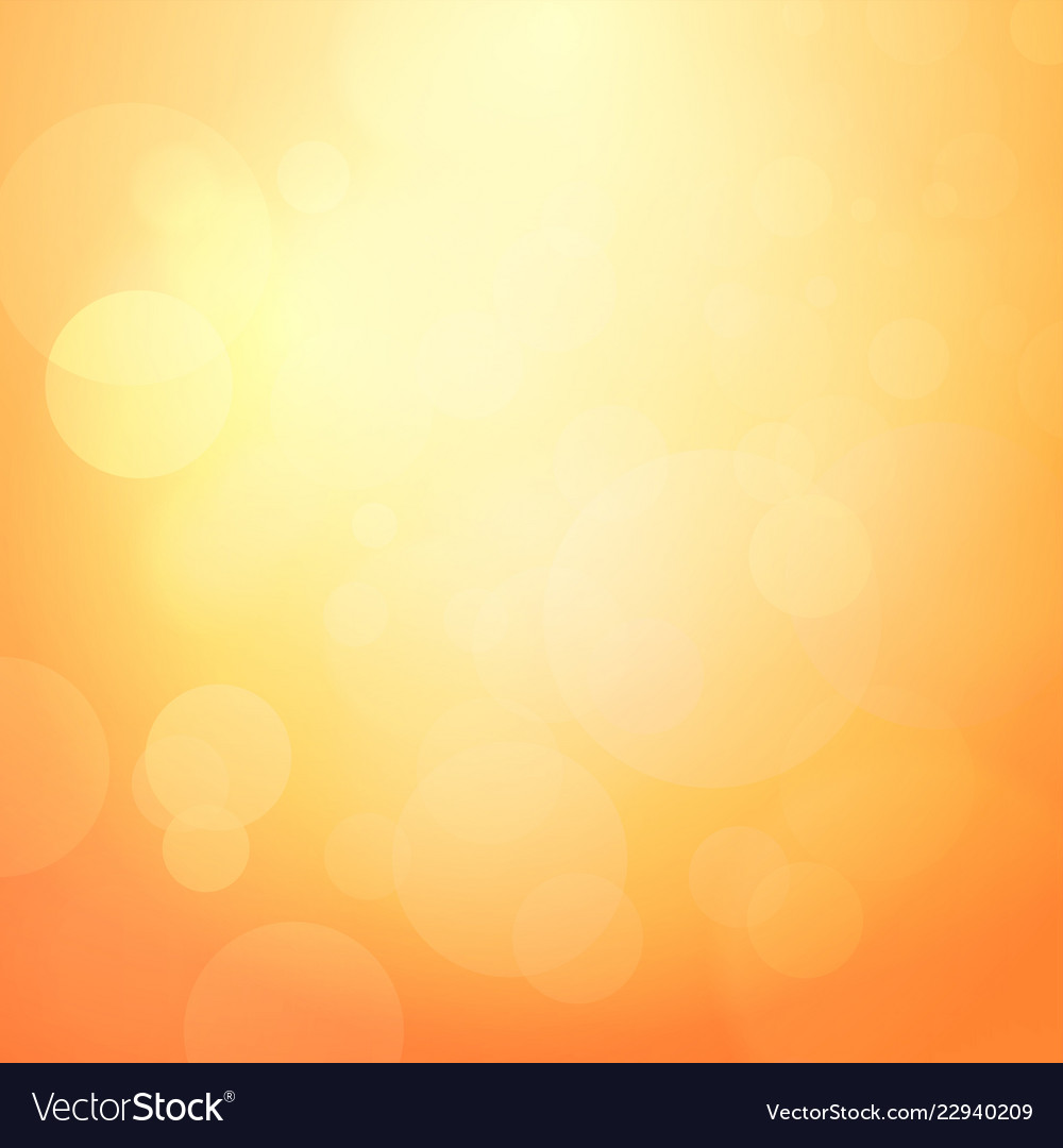 Abstract orange background with light bokeh