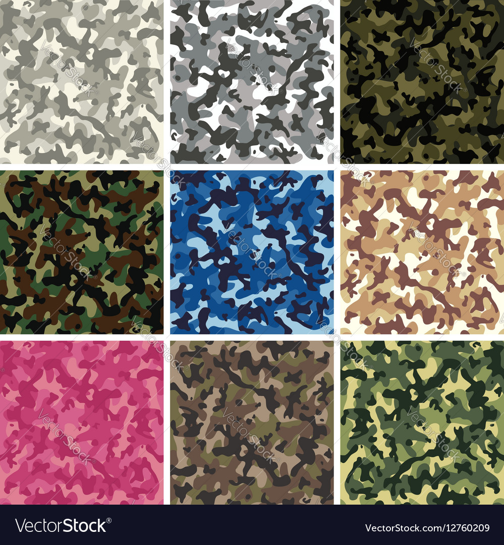Colorful camouflage pattern