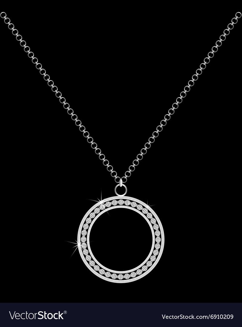 Necklace with Precious Stones vector image