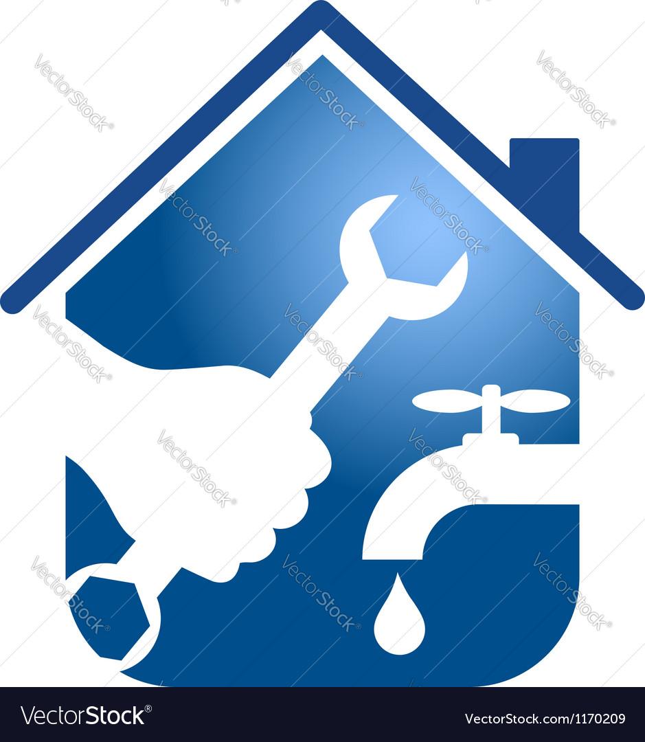 Plumbing repairs business design vector image