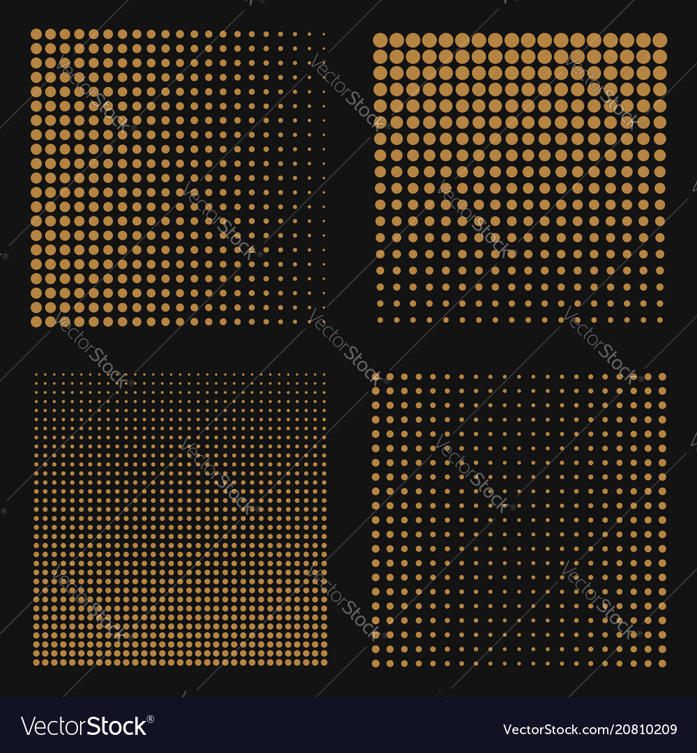 Set of abstract halftone backgrounds brown color