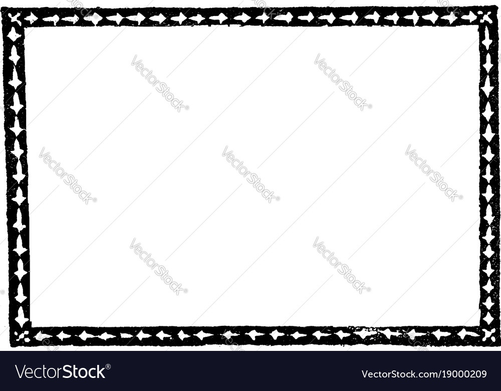 simple arrow border is dark and thin pattern vector image