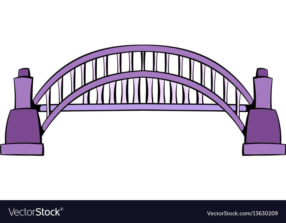 Sydney harbour bridge icon cartoon vector image
