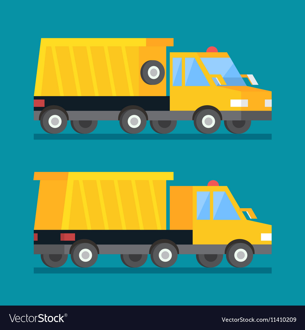 Yellow mining truck Construction transport
