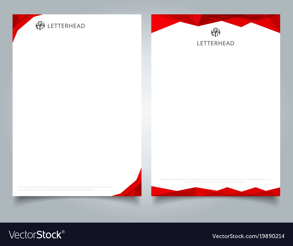 Creative Blue Wave Letterhead Template Vector Design: Abstract Creative Letterhead Design Template Red Vector Image