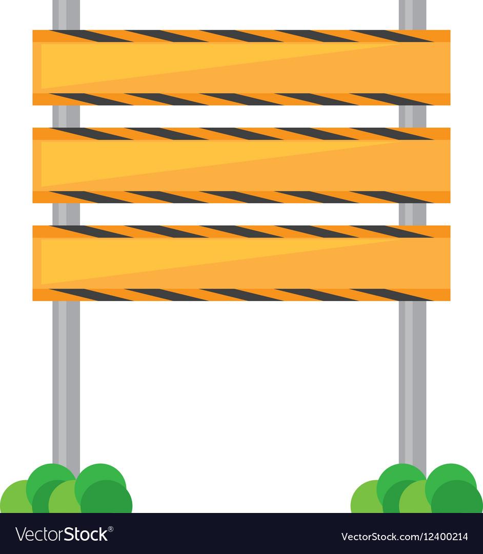 Barrier under construction road