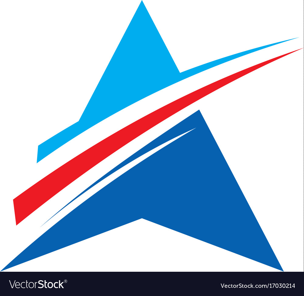 Business triangle star abstract logo vector image