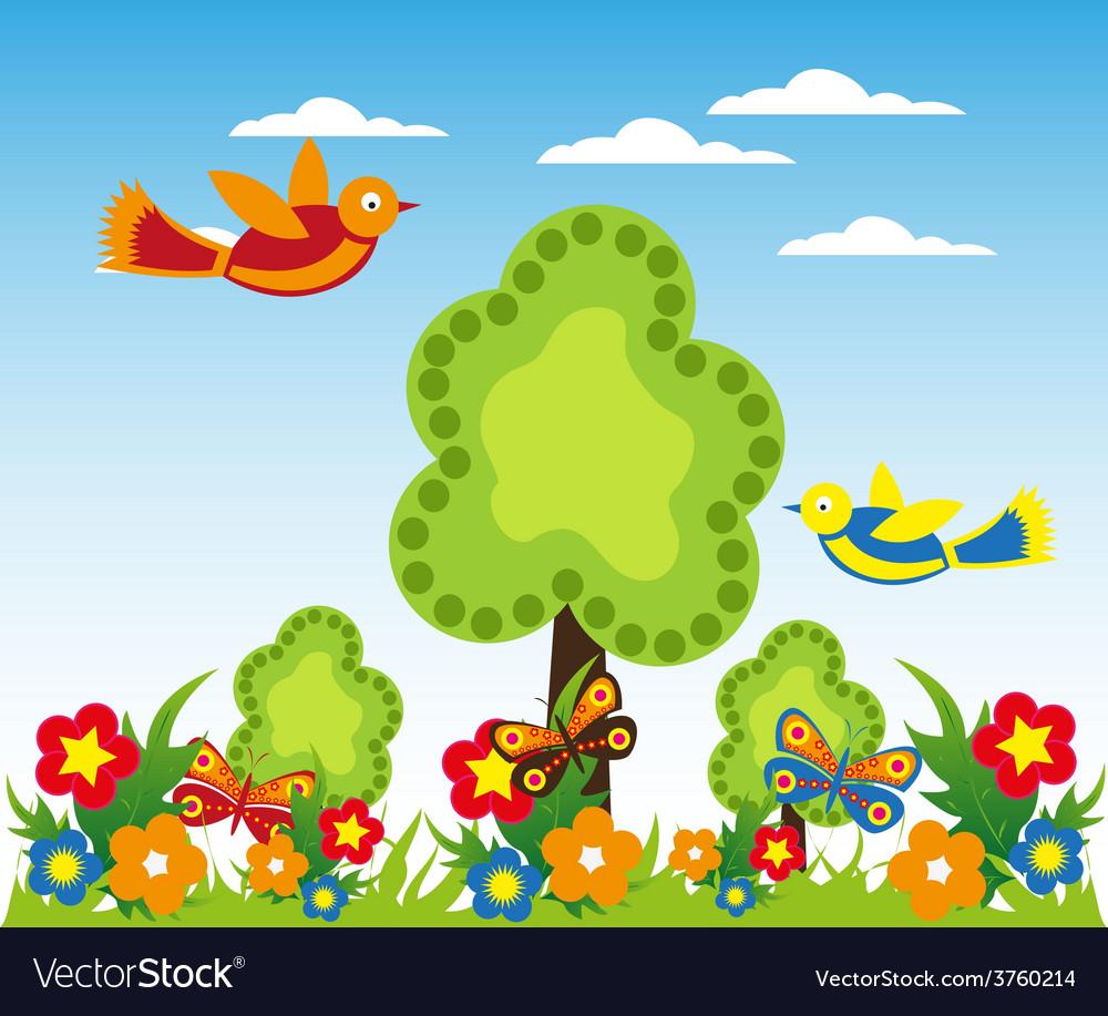 Cartoon landscape design