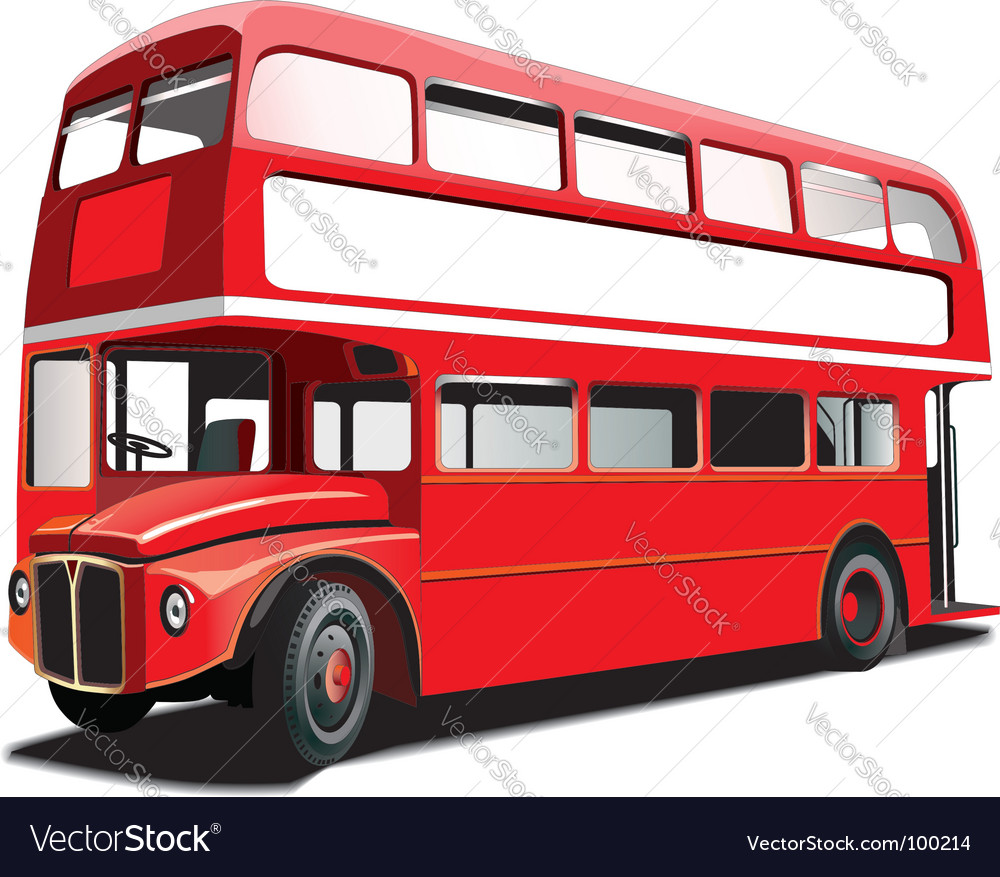 Double decker bus vector image