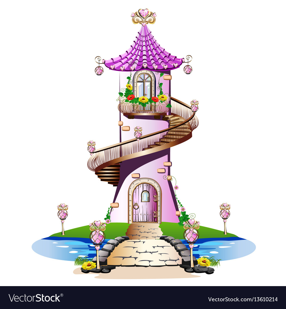 Pink fairytale castle