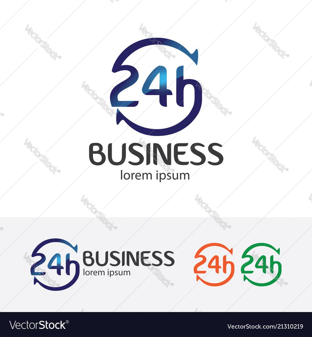 24 hours logo design