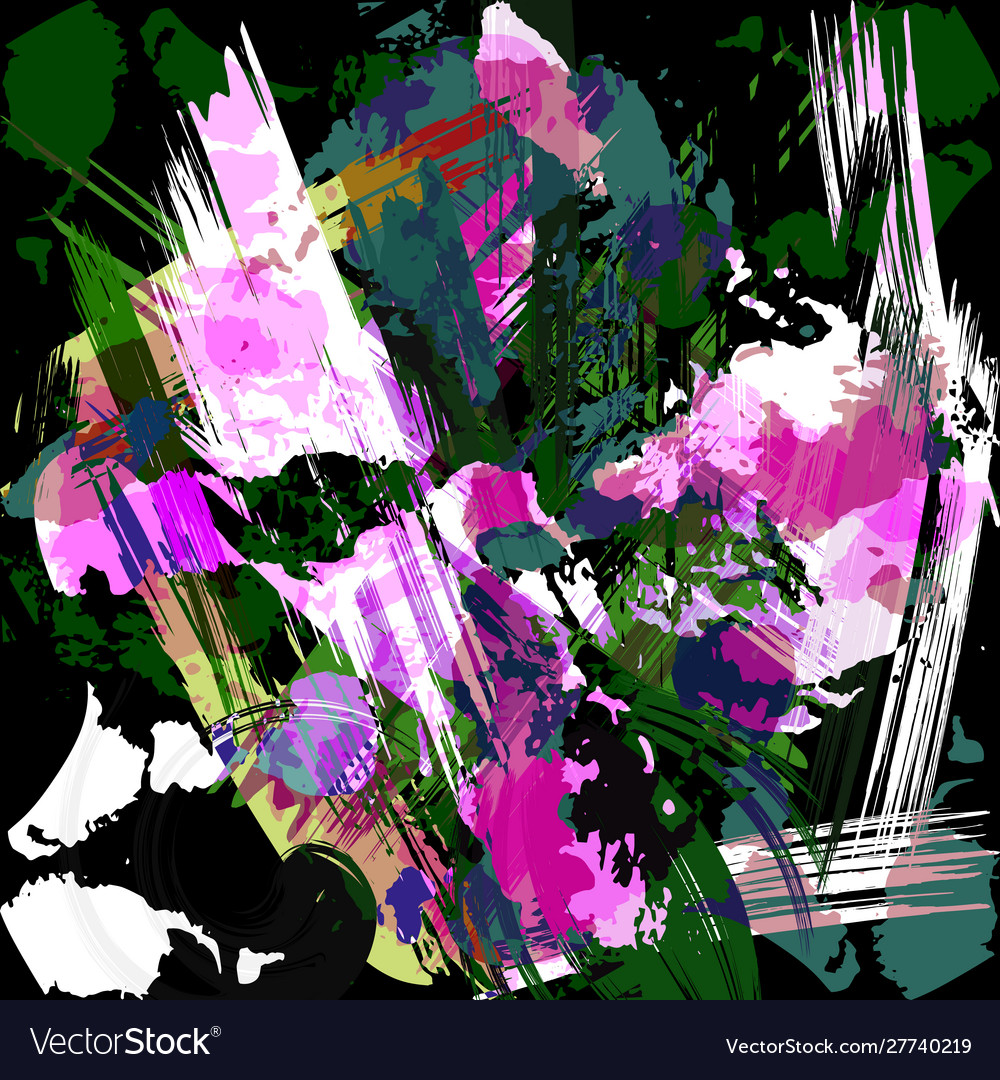 Abstract color pattern in graffiti style quality