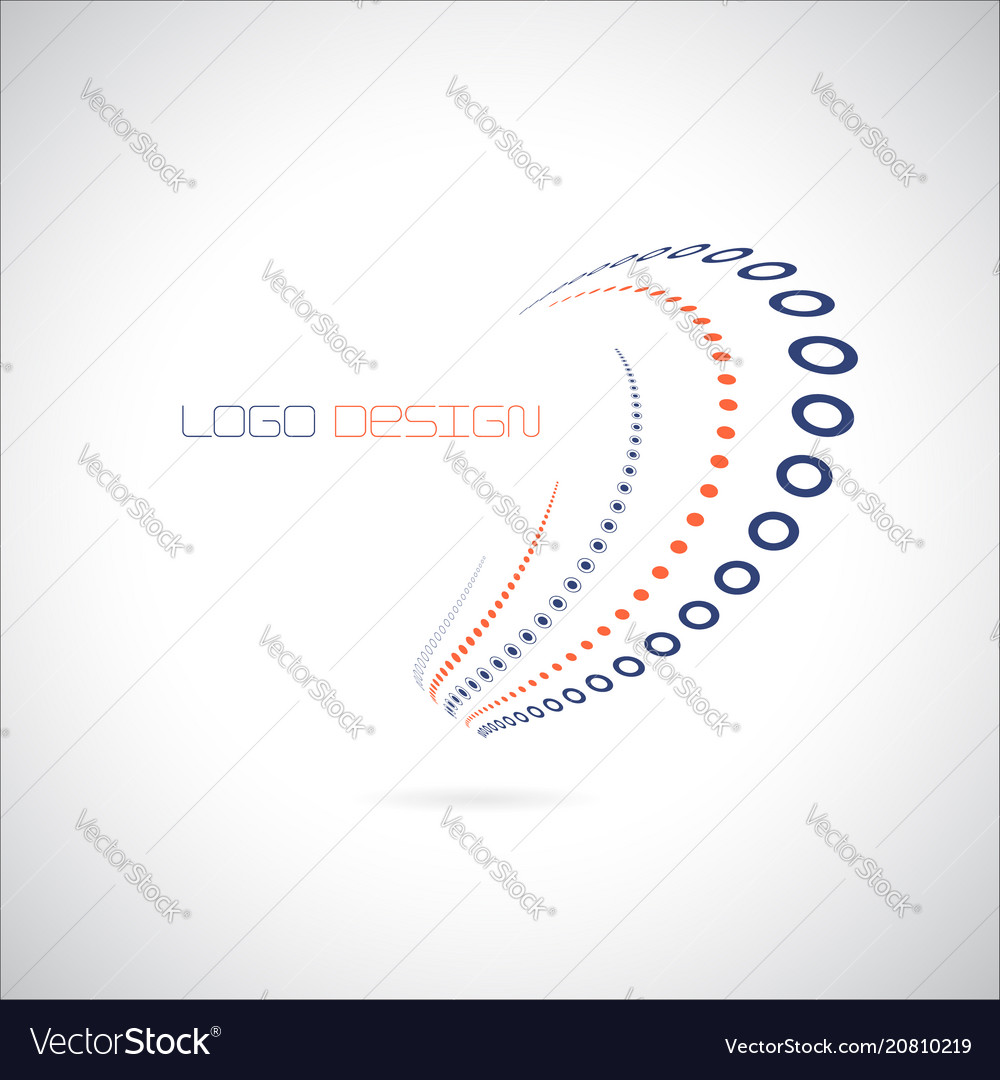 Abstract logo design template in blue-red color