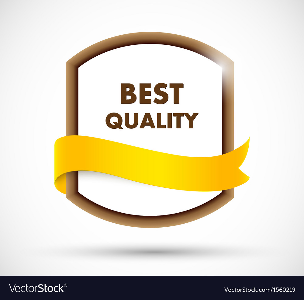 Best quality label vector image