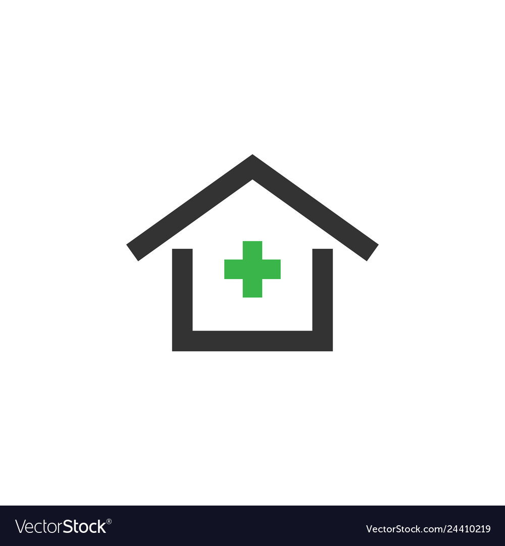 Clinic house icon design template isolated