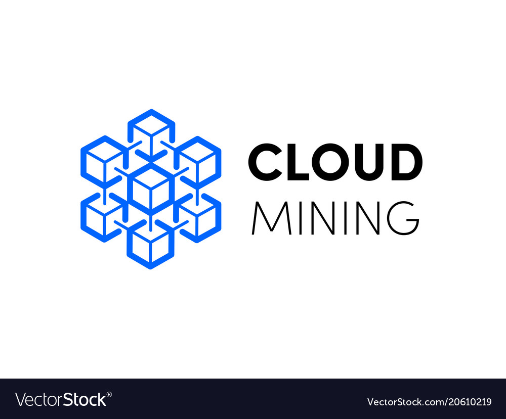 Cloud blockchain cryptocurrency logo