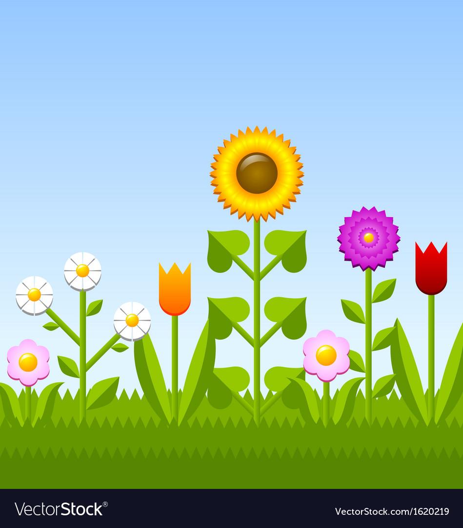 flower garden royalty free vector image vectorstock vectorstock